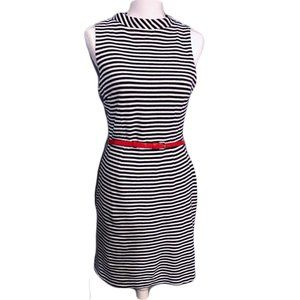 The Limited Navy Blue Striped dress size M